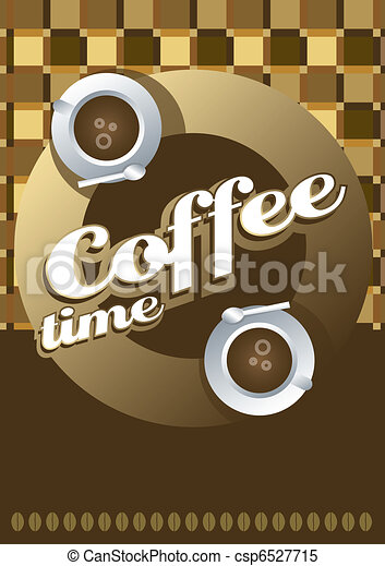 Coffee cup on a table cloth  - csp6527715