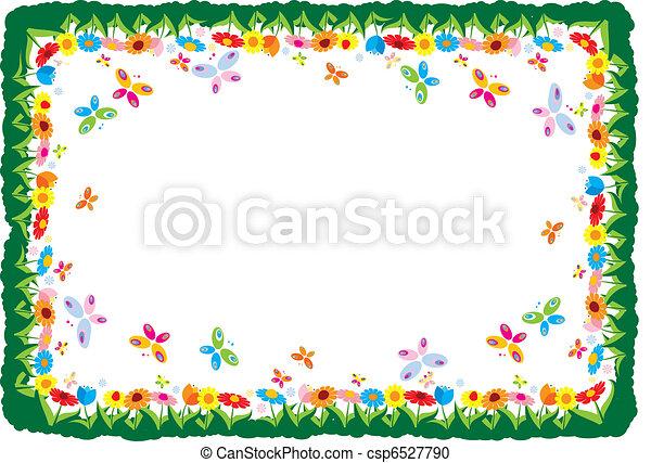 Spring vector illustration frame  - csp6527790