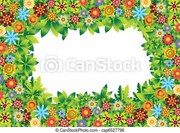 Flowers Garden Frame Vector   Csp6527796