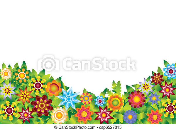 Flowers garden vector  - csp6527815