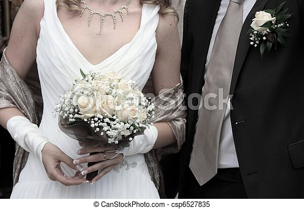 Bride and Groom - csp6527835