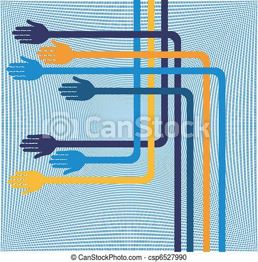 Fun geometric hands design.  - csp6527990