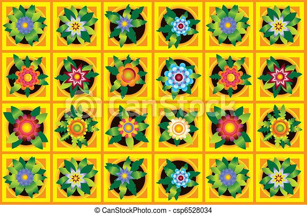 Home flowers raster image  - csp6528034