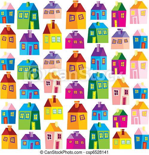 Houses, illustration, wallpaper - csp6528141