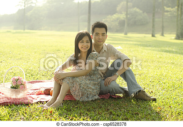 young asian adult family - csp6528378