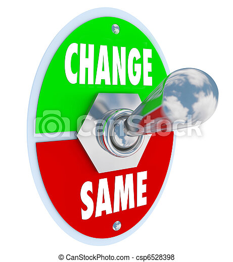 Change vs Same - Choose to Improve Your Situation - csp6528398
