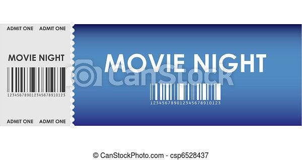 special blue movie ticket - csp6528437