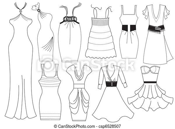 illustrations vectoris es de vecteur robe femme blanc mode v tements vecteur. Black Bedroom Furniture Sets. Home Design Ideas