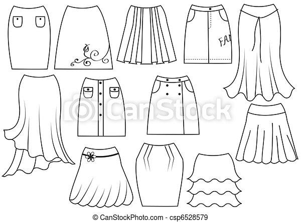 comment dessiner des jupes