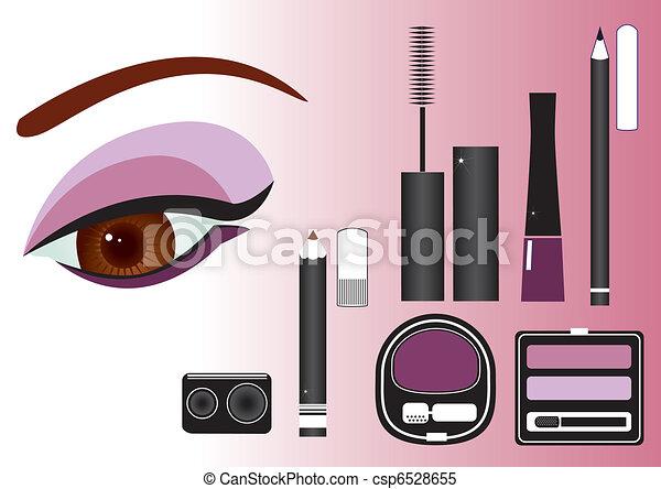 Makeup close-up.Vector image - csp6528655