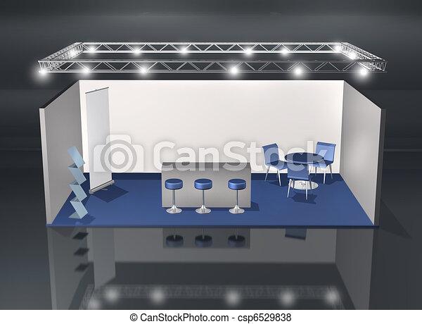 Basic blank fair stand - csp6529838