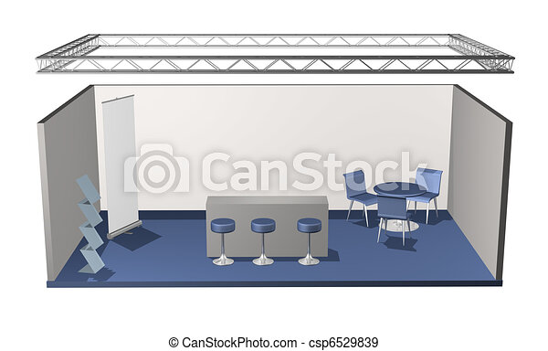 Basic blank fair stand - csp6529839