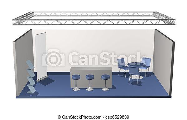Basic blank fair stand - csp6529839