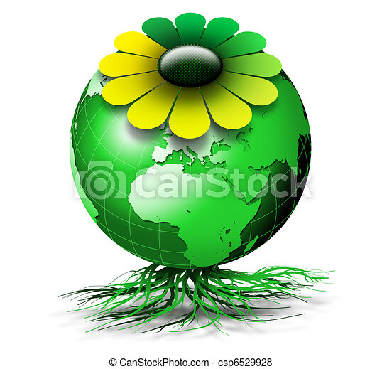 Organic Flowers Drawings Organic Green Globe With
