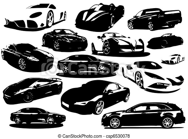 cars collection icon - vector  - csp6530078
