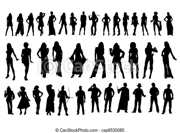 Silhouettes bodies  - csp6530085