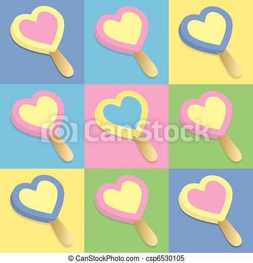 Heart, ice cream, lollipop - csp6530105