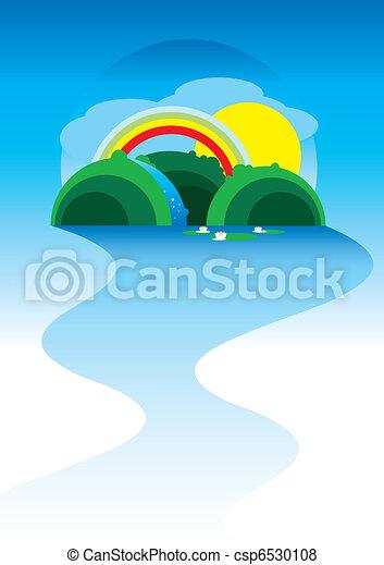 Summer landscape vector - csp6530108