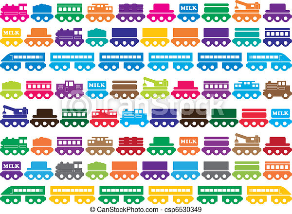 EPS Vectors of Children's wooden toy train - toy illustration ...
