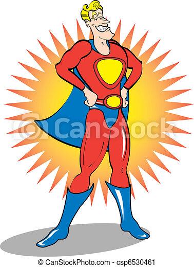 Superhero Clip Art - csp6530461