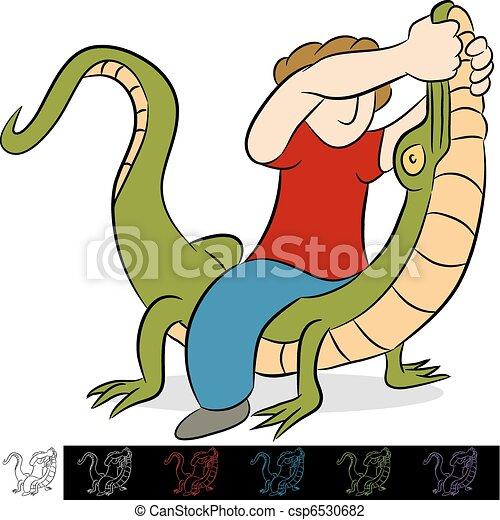 Alligator Wrestler - csp6530682