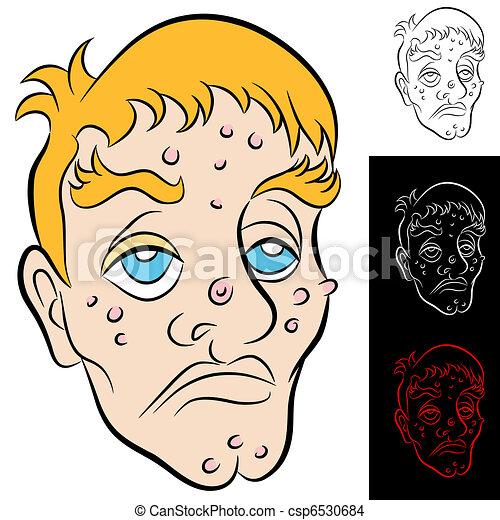 Bad Face Man - csp6530684