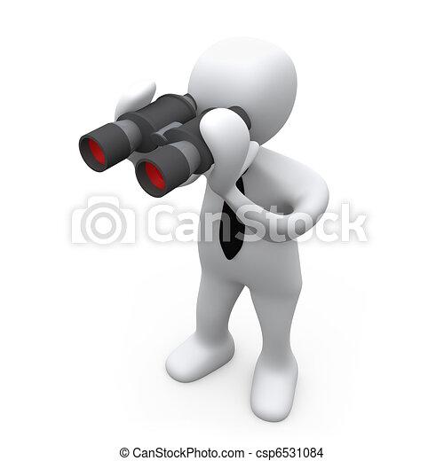 Looking Through Binoculars - csp6531084