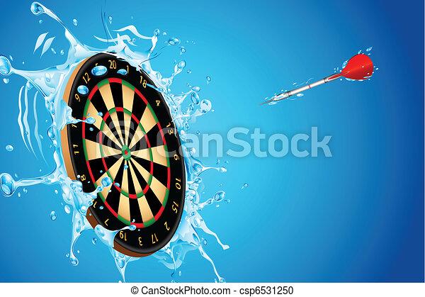 Splashing Dart Board - csp6531250