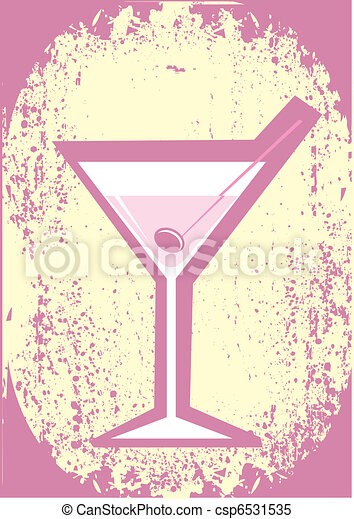 Vector glass of martini - csp6531535