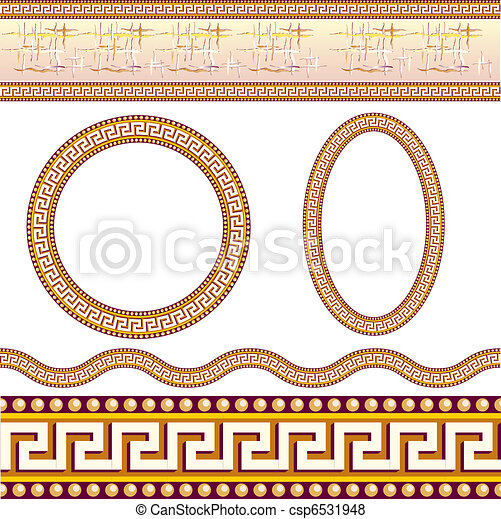 Greek border patterns - csp6531948
