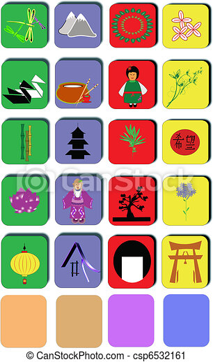 cultural chinese icons - csp6532161