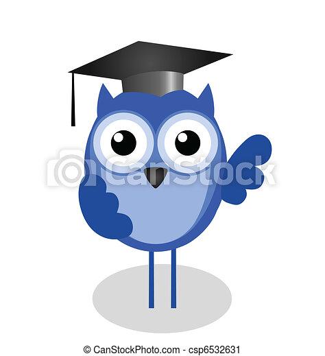 Wise old owl teacher  - csp6532631