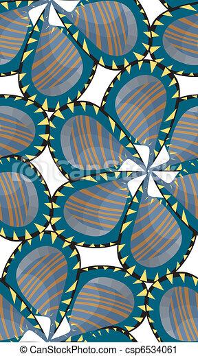 Seamless Pinwheel Flower - csp6534061