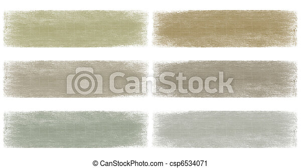 Neutral earth and grey faded grunge banner set - csp6534071