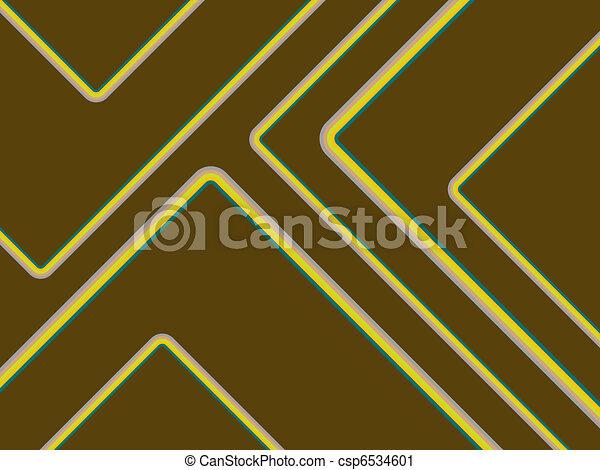 Retro Stripes On Brown - csp6534601