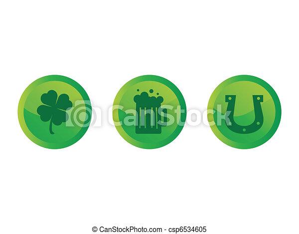 Saint Patricks Day Buttons - csp6534605