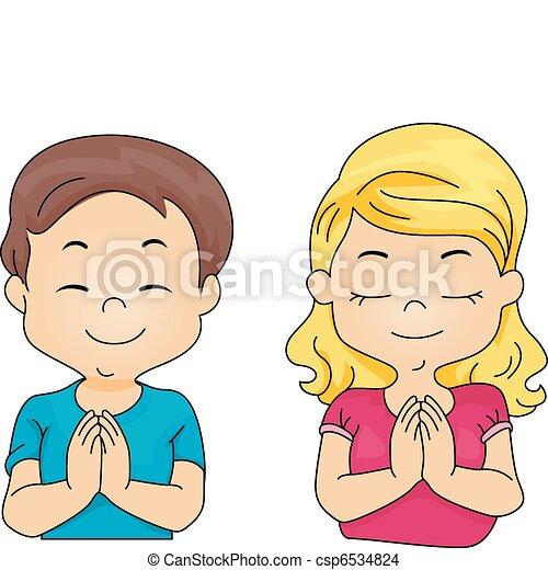Kids Praying - csp6534824