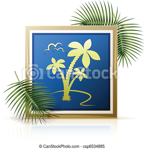 picture tropic palm - csp6534885