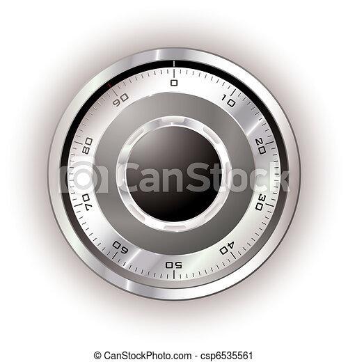 Safe dial white - csp6535561