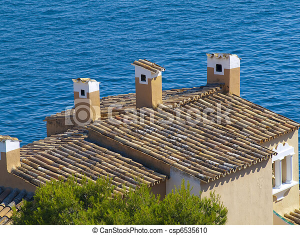 Rural Houses besides the sea - csp6535610