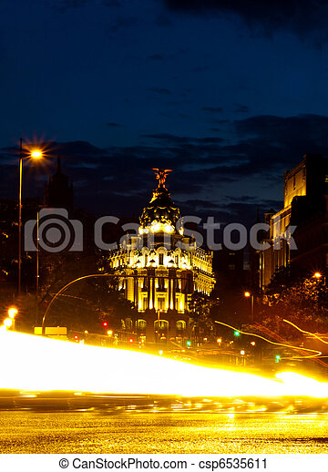 Metropolis Building in Gran Via, Madrid - csp6535611