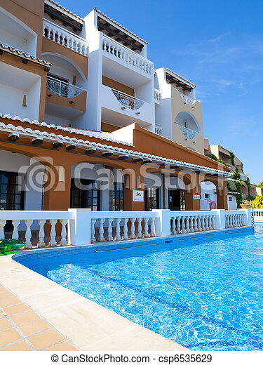 Pool Time in a Summer Villa - csp6535629