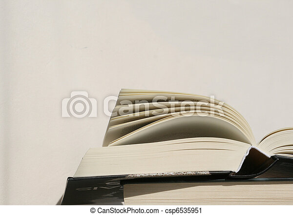 thick open book pages - csp6535951