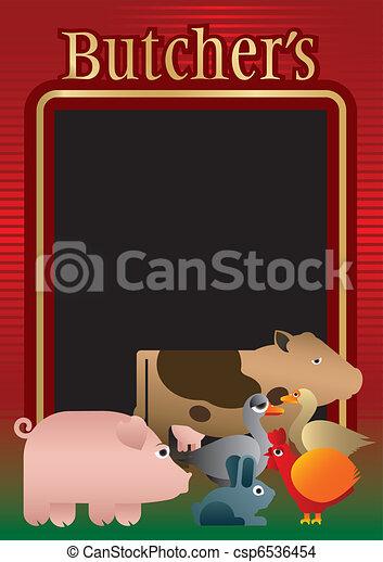 Butcher, background, menu - csp6536454