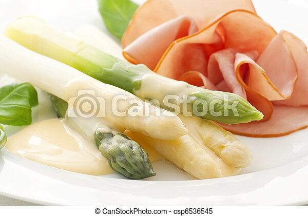 Asparagus with Ham - csp6536545
