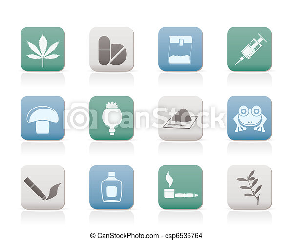 Different kind of drug icons  - csp6536764