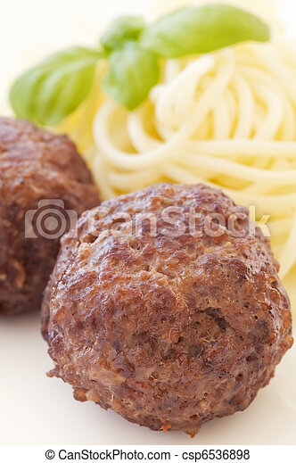 Meatballs with Spaghetti - csp6536898