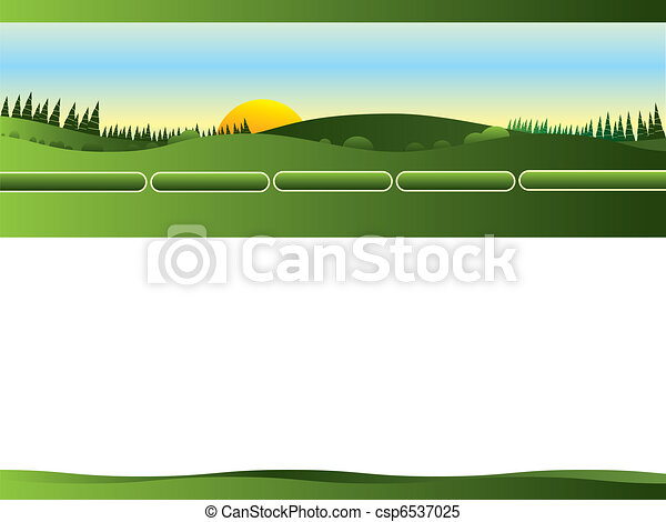 Web site landscape, gardening - csp6537025