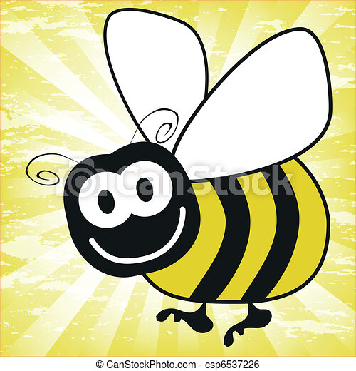 Fun bumble bee vector. - csp6537226