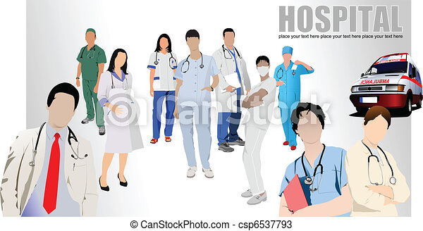 Group Of Doctors Clipart Group of Medical doctors and